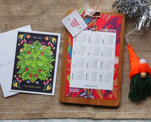 2020 Wall Calendar_Green Man Postcard