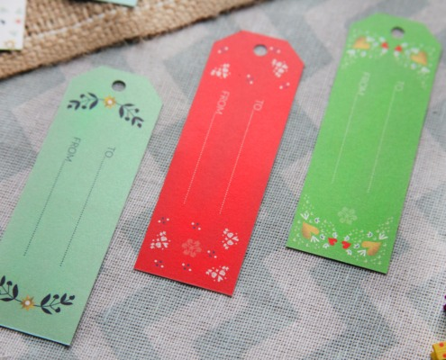 Christmas Tags Pack of 5 pz Folk art