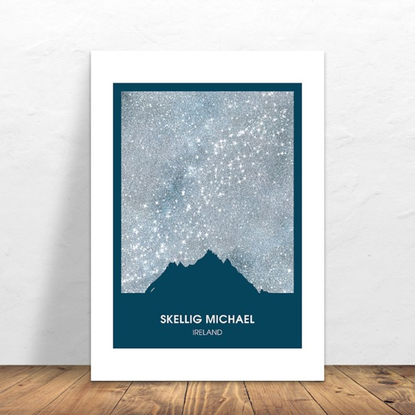 Signed Print Skellig Michael Silver