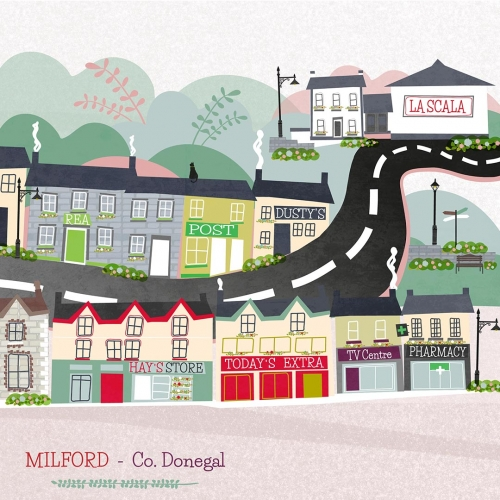 Milford Co. Donegal Signed Print A4